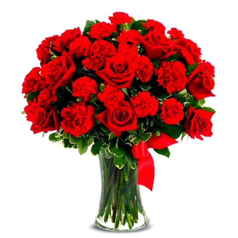 Red Heart Bouquet