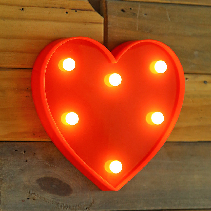 Red Heart Marquee Light