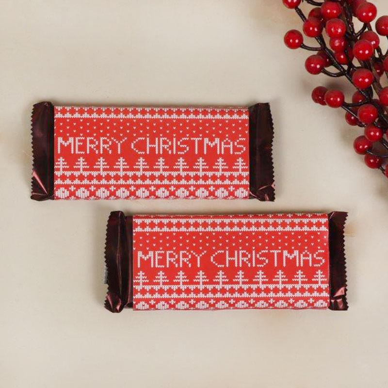 Pair of Merry Christmas chocolates