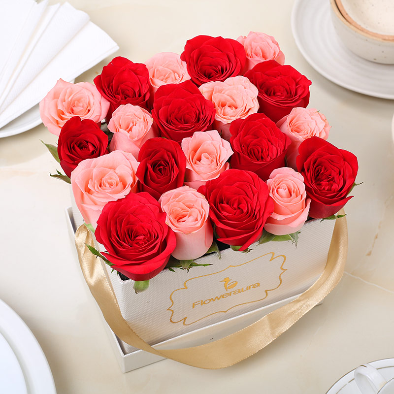 Rose Day Flowers - Red and Pink Flowers Delivery Online