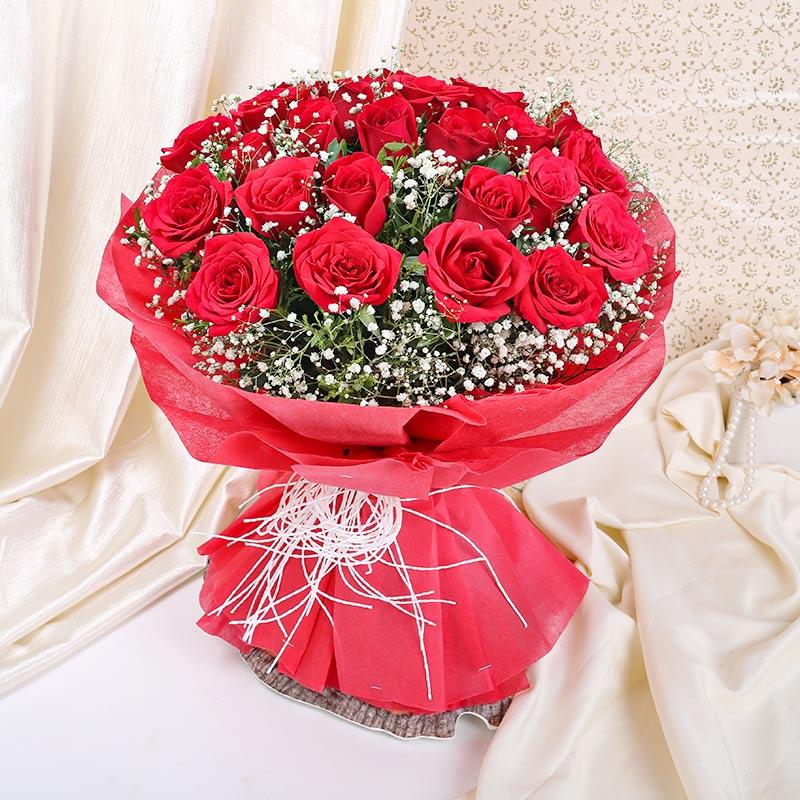 24 red roses Bunch