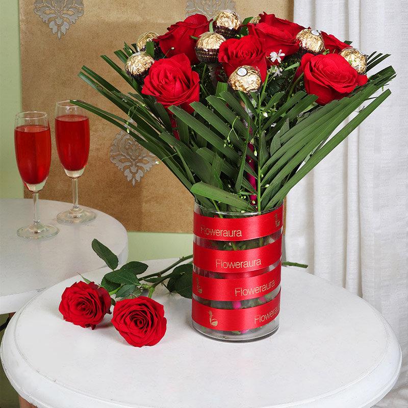 Red Rose Rocher Bunch