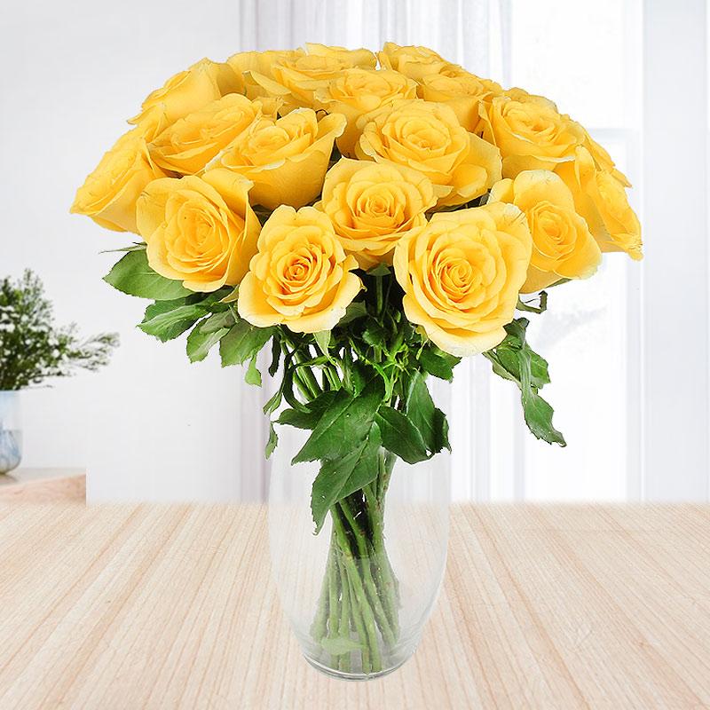 3 tier Yellow Roses - Second gift of Red Velvet Felicitation