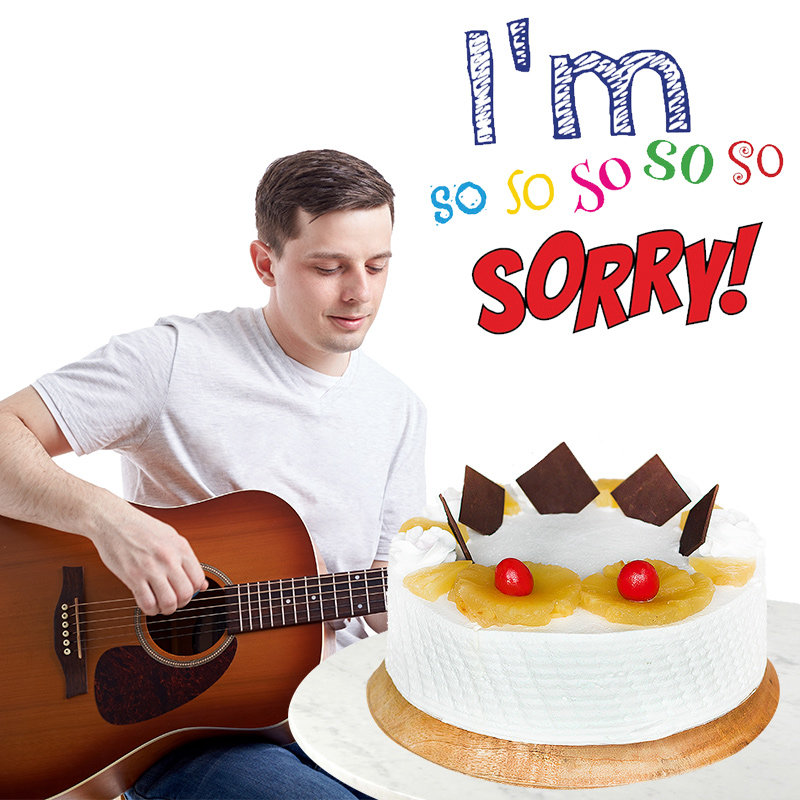 Pineapple Cake with Guitar Performance