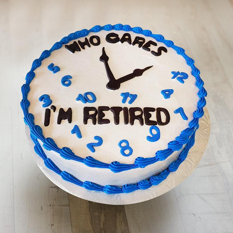 Clock Theme Retirement Cake