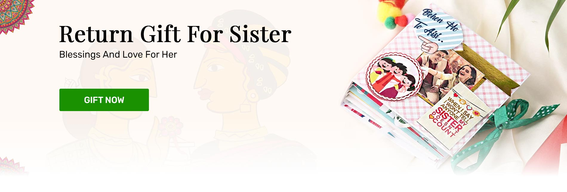 Return gift to sister in India