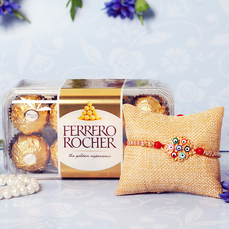 Rocher Rakhi Combo
