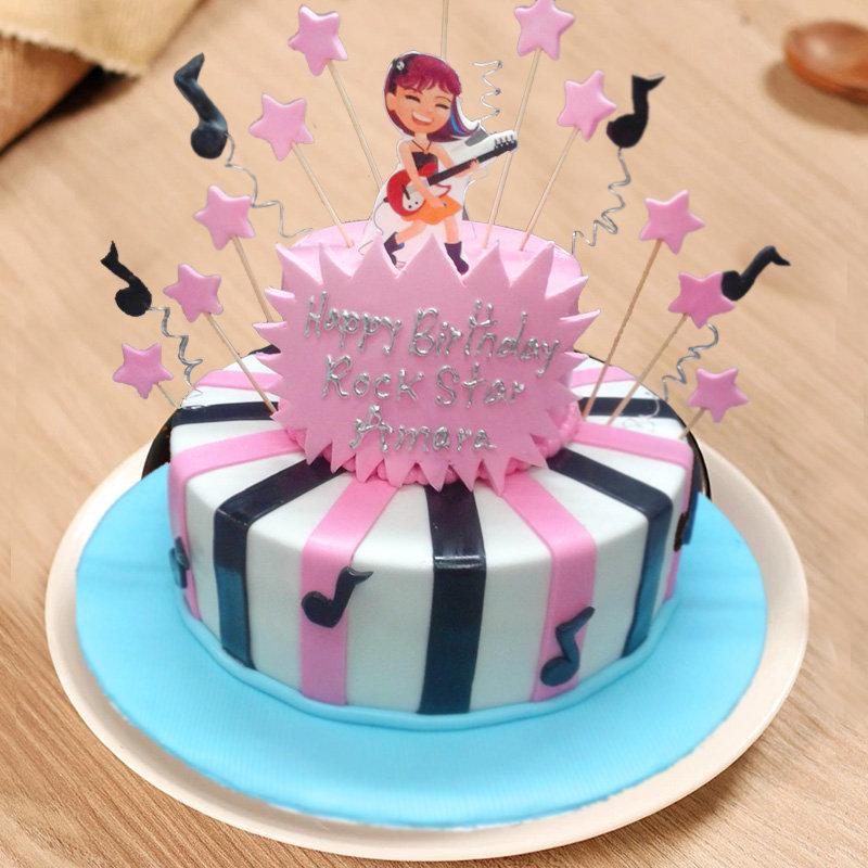 Rockstar Fondant Cake