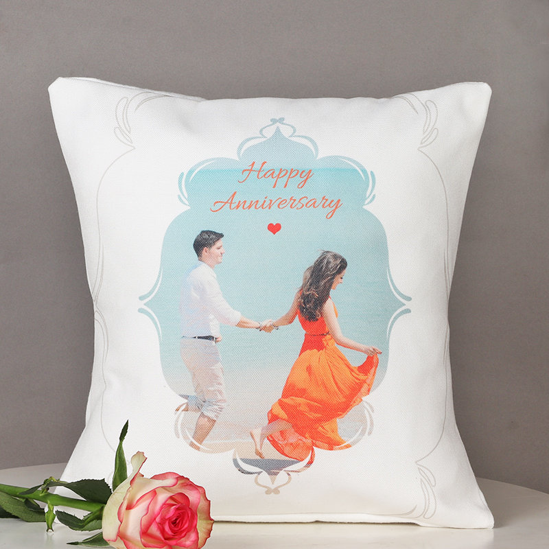 Romantic Anniversary Cushion - 12x12 Personalised Inches Printed Cushion