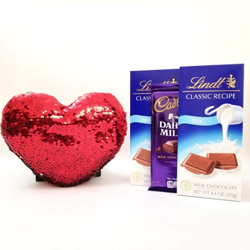 Romantic Heart And Choco Gift