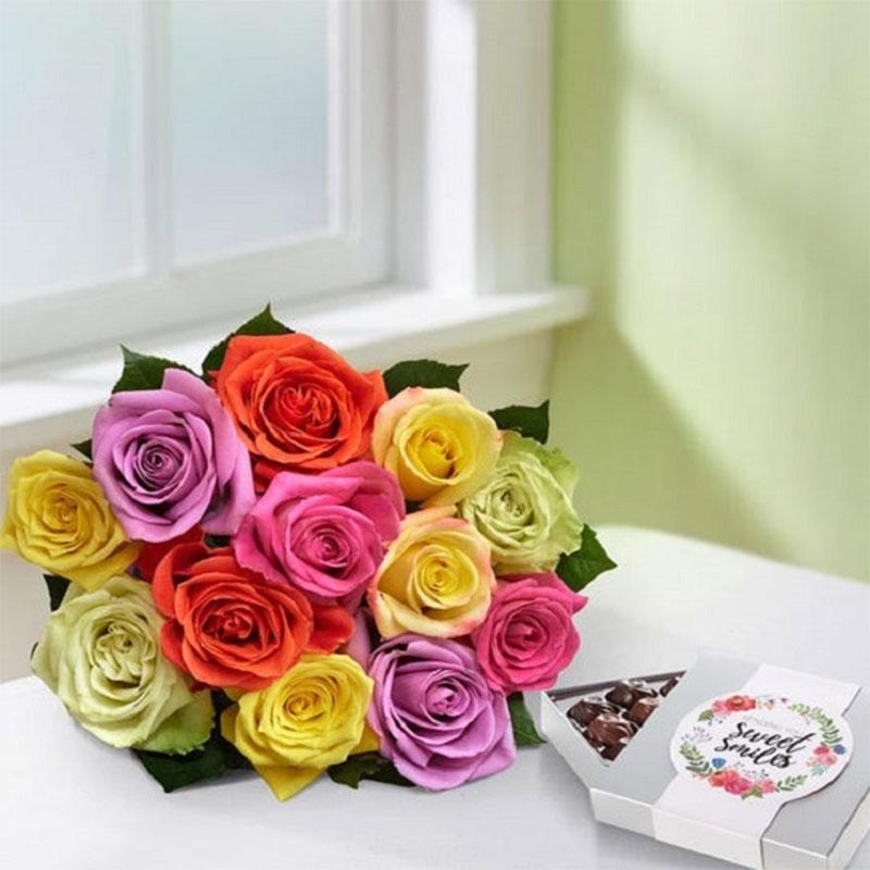 Rose Peruvian Lily Romance Bouquet