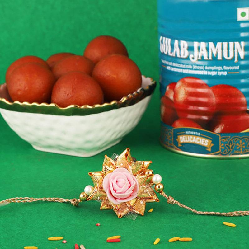 Rose Rakhi N Gulabjamun