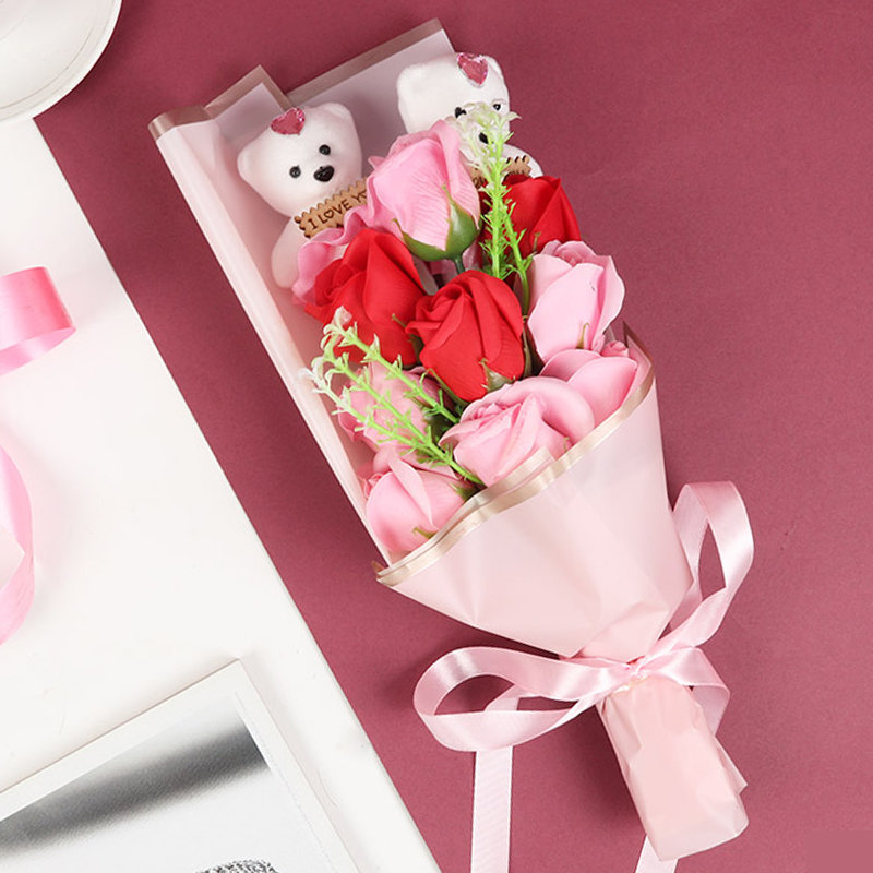 Rose and Teddy Valentine Combo Gift