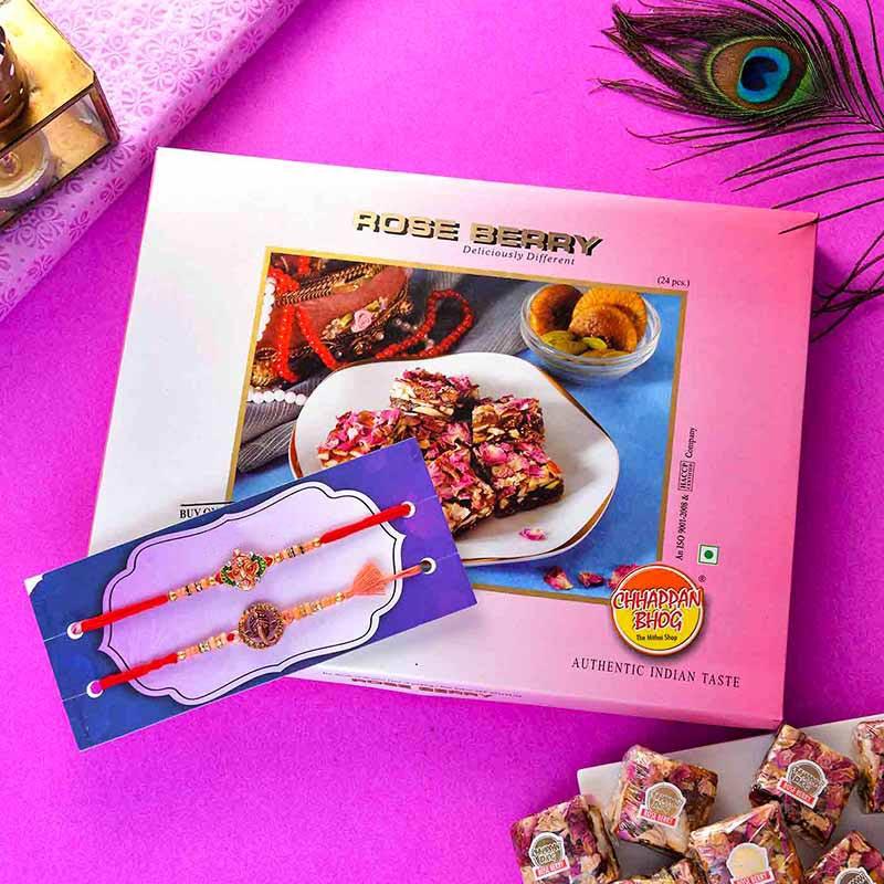 Roseberry Bites Rakhi Set