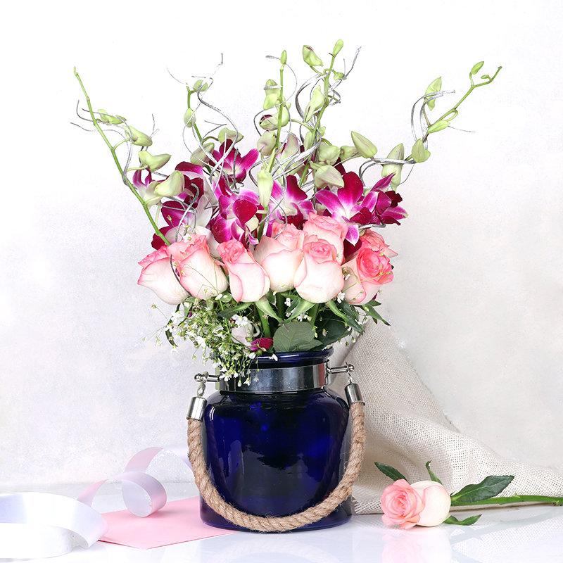 Roses N Orchids Boquet