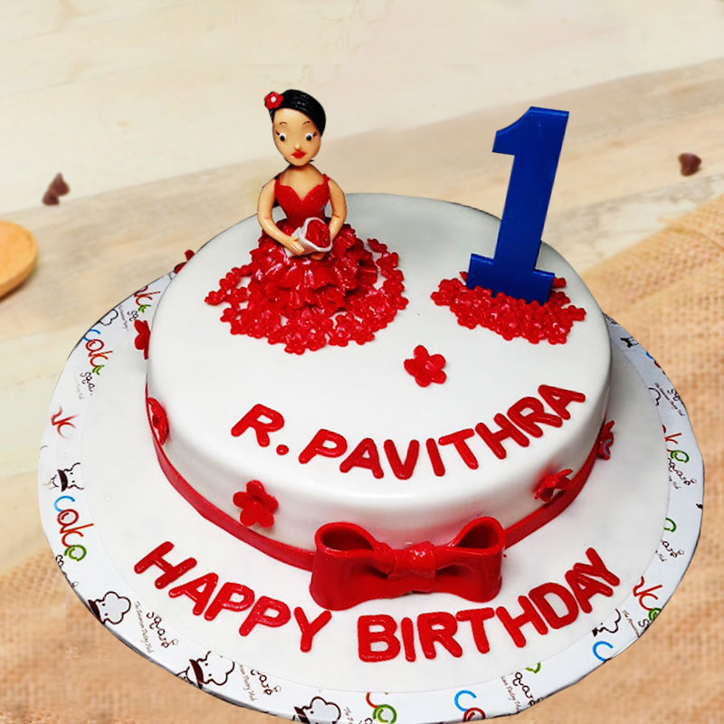 Rosie Doll Fondant Cake