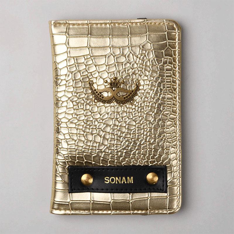 Rough Gold Passport Wallet