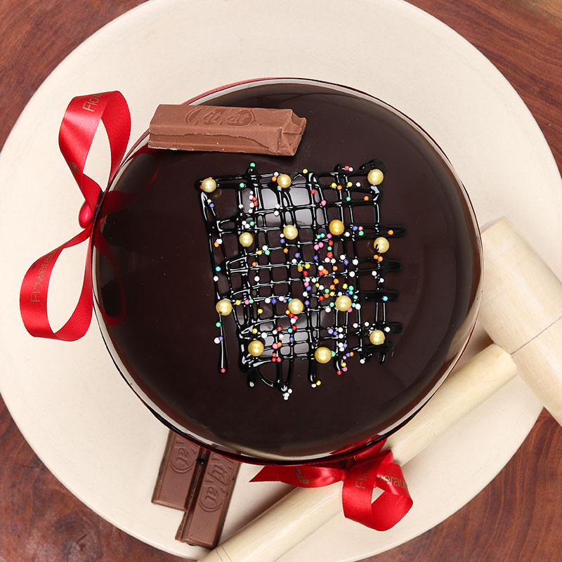Round Choco Pinata Cake Buy Now