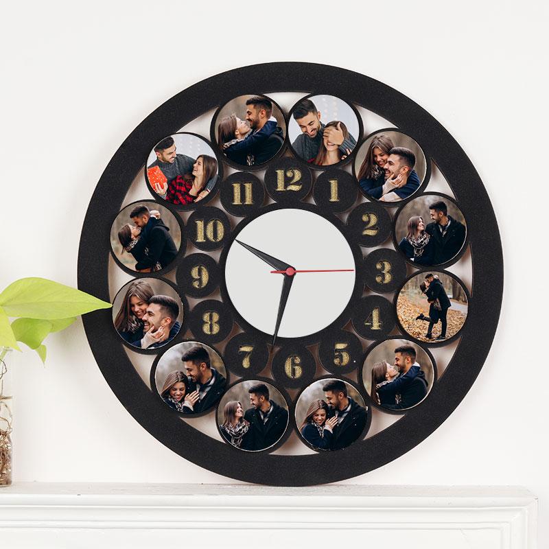 Round Photo Wall Clock