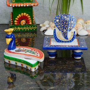 Royal Mayur Chopra With Marble Ganesh Chowki