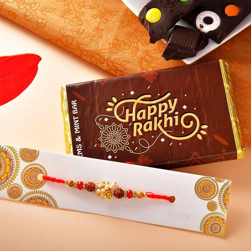 Rudraksh Rakhi N Gems Mint Chocolate