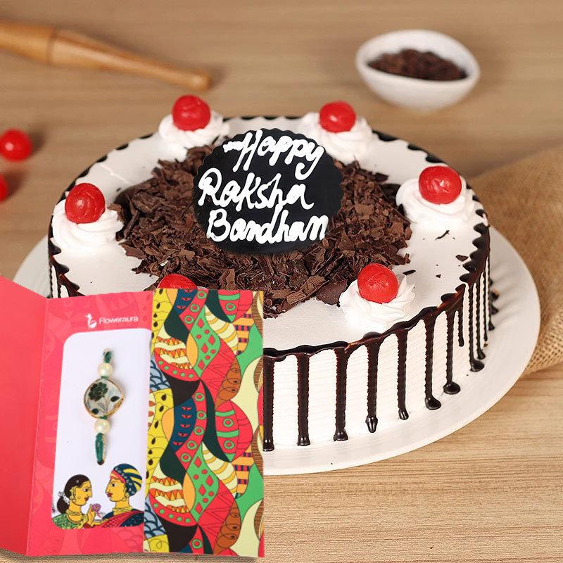 Blackforest Cake with Rakhi