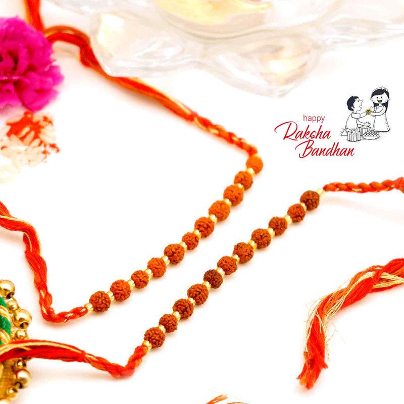 Rudraksha Stringed Rakhi