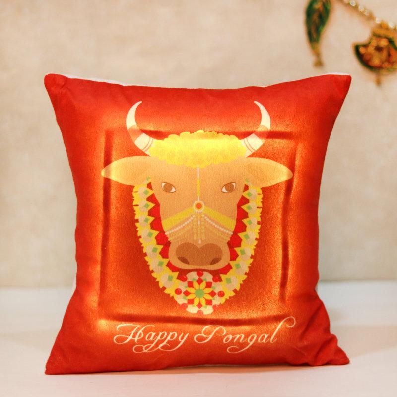 Sacred Pongal Cushion Cover