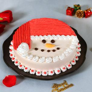 Merry Christmas Cream Cake