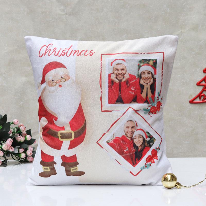 Santa Claus Photo Printed Cushion
