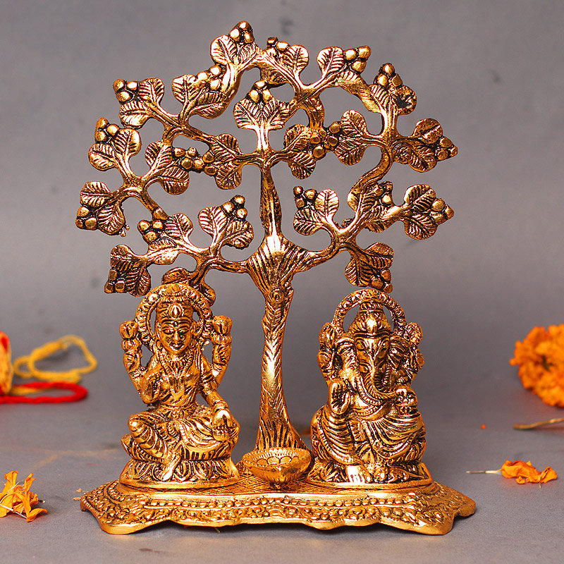 Laxmi Ganesha Metal Idol