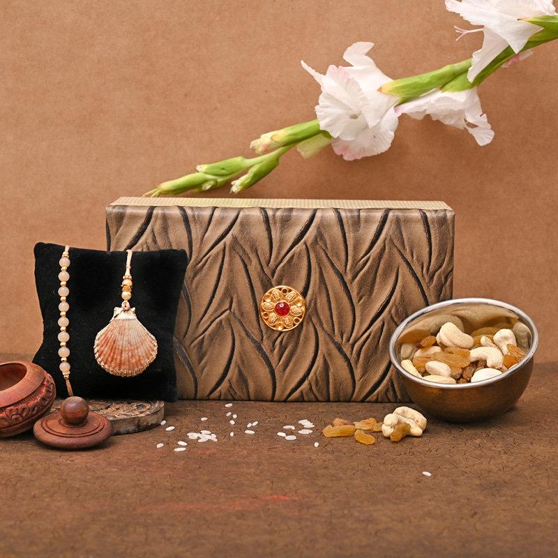 Sea inspired Rakhi pack - Bhaiya Bhabhi Rakhi Premium Box