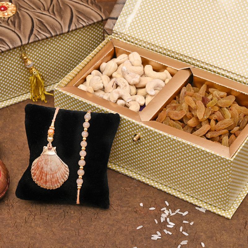 Bhaiya Bhabhi Rakhi Premium Box - Sea inspired Rakhi pack