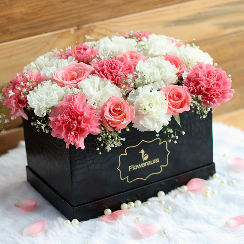 Serenity Box - Send Pink Roses Bouquet Online