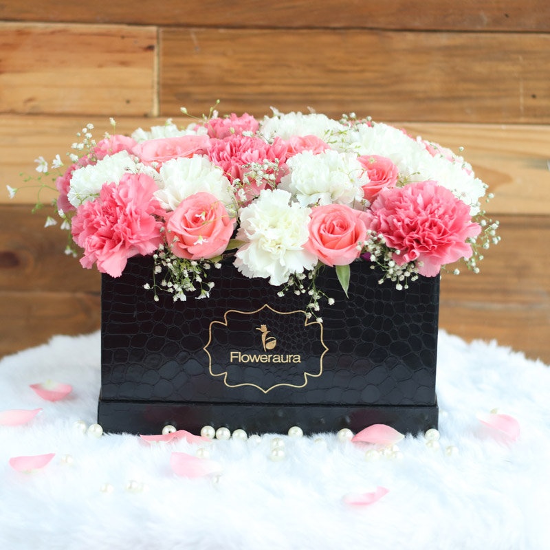 Serenity Box - Order Pink Roses Bouquet in India