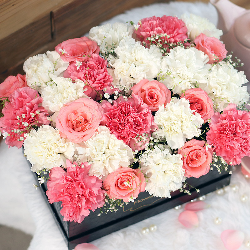 Order Pink Roses Bouquet in India - Serenity Box