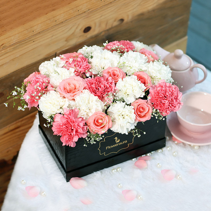 Send Pink Roses Bouquet in India - Serenity Box