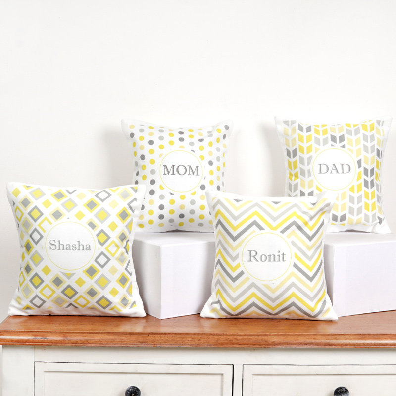 Set Of 4 Customised Family Cushions