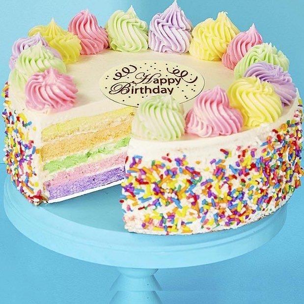 Seven Hues Rainbow Cake - Birthday Rainbow Cake