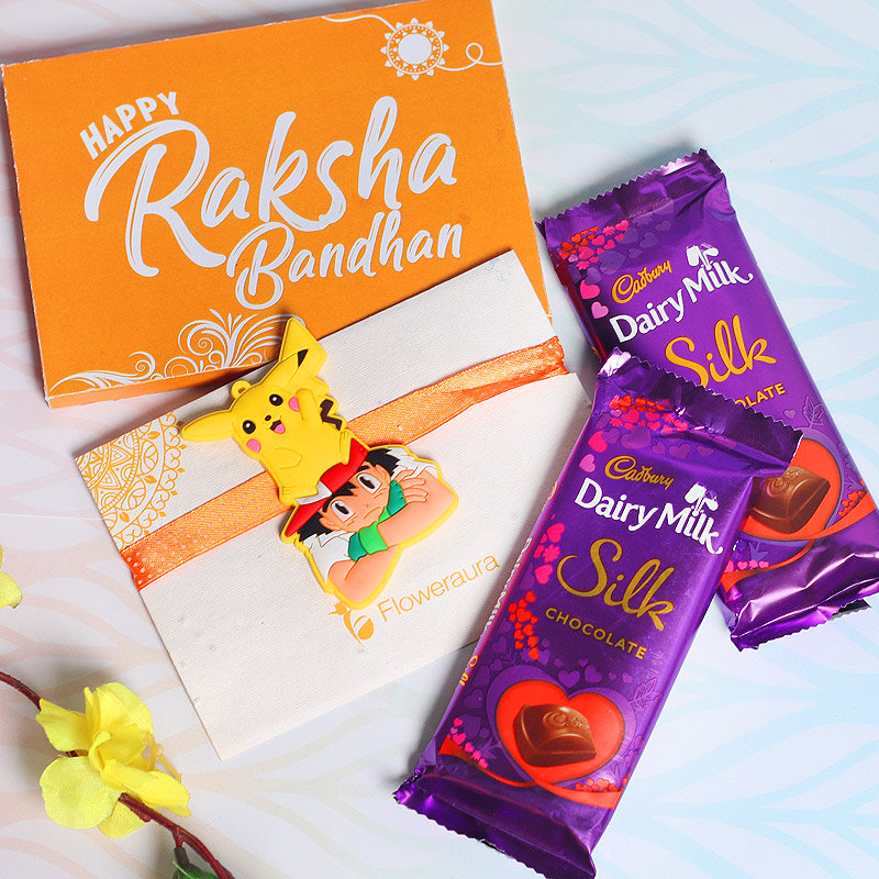 Silk Rakhi Chocolate