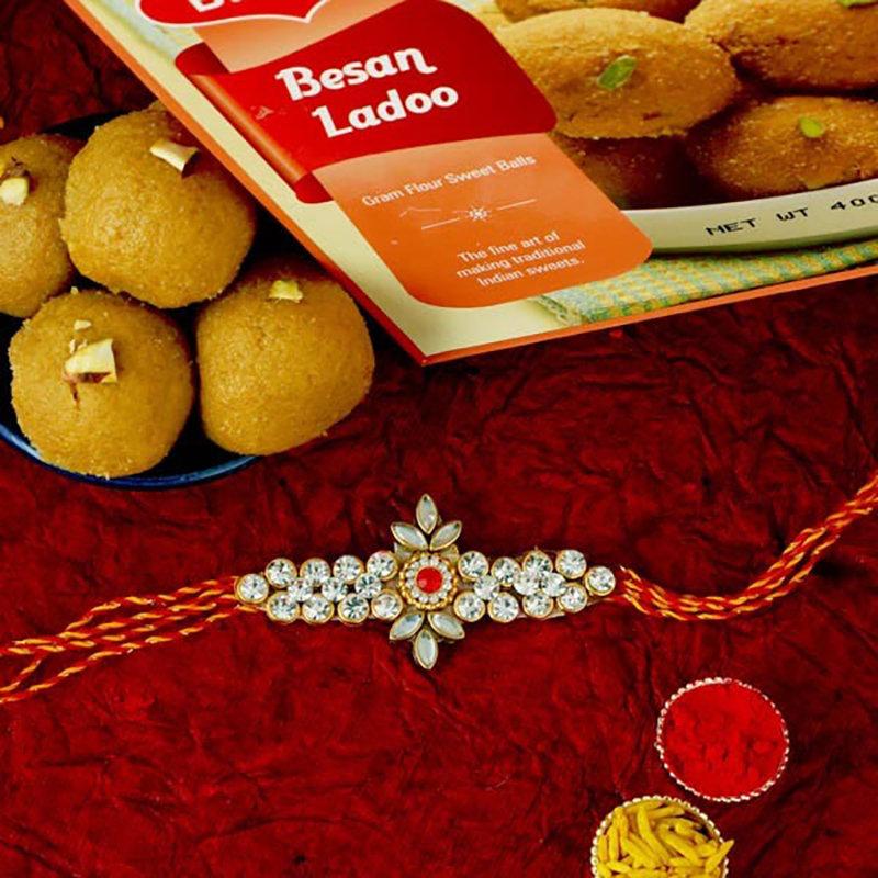 Silver Stone Rakhi Hamper