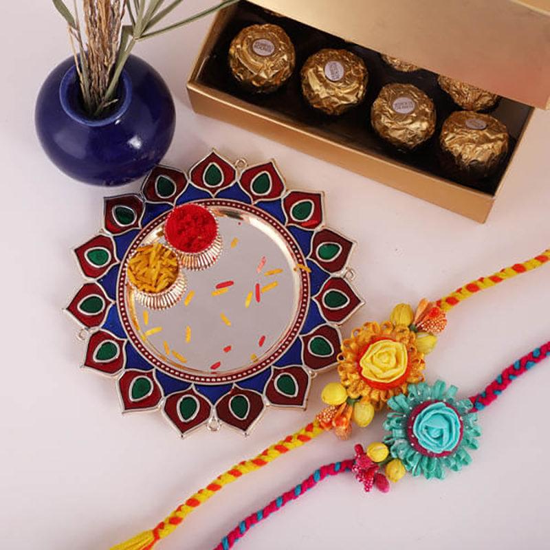 Simply Elegant Floral Rakhi