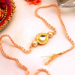 Single Kundan Rakhi