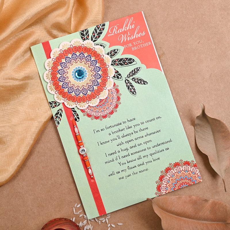 Single stud Rakhi N card