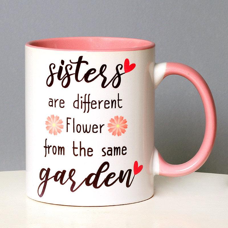 Sister Flower Mug Gifts on Rakhi for Sister
