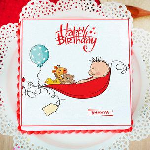 Sleeping Baby Poster Cake
