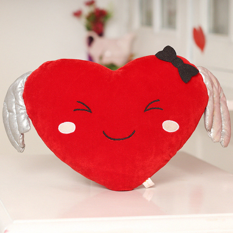 Front view of Smiling Heart Cushion Gift