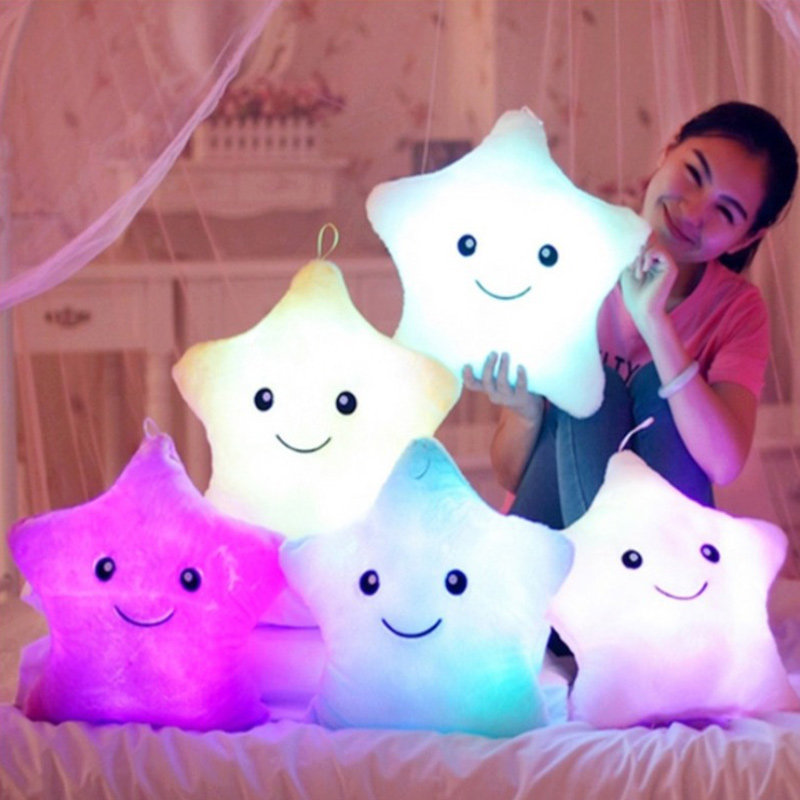 Smiling Starry Stuffed Toy