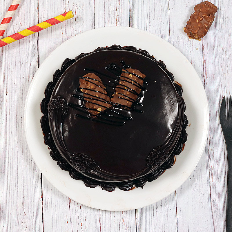 Top view of Snickers Birthday Cake