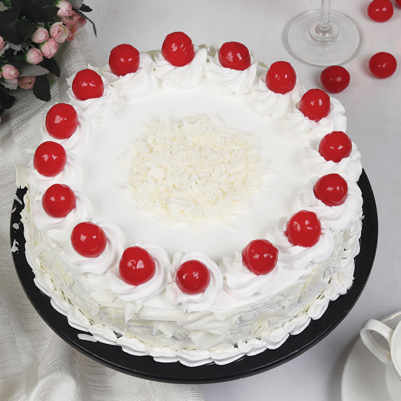 Snowy White Forest Cake Delivery